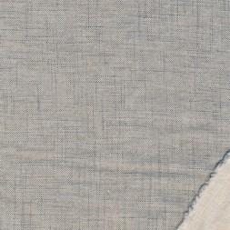 Hør/bomuld meleret grå-blå/off-white-20