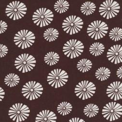 Hør brun m/blomster-20
