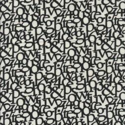 Hør hvid sort med bogstaver-20
