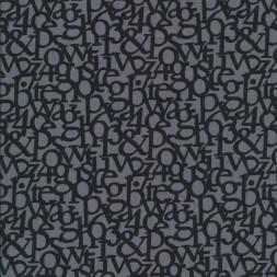 Rest Hør grå sort med bogstaver 45 cm.-20