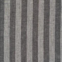 Viskose-hør stribet i koksgrå og hvid-20