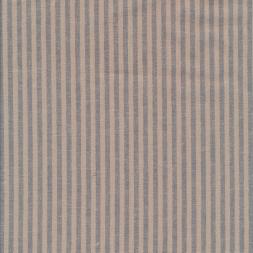 Hør/Bomuld stribet i sand og grå-blå-20
