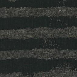 100% let hør med uens striber i grå og sort-20
