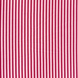 Viskose/Hør stribet i knækket hvid og rød-20