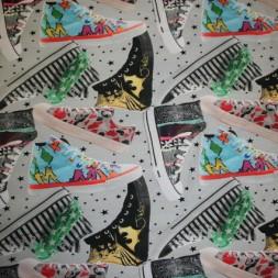 Isoli m/digitalt tryk sko/sneakers-20