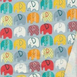 Isoli i støvet babylyseblå med elefanter-20