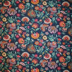 Isoli mørkeblå med multifarvede blomster-20