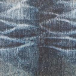 Isoli m/stræk digital print i slidt denim look-20