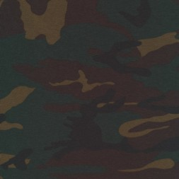 Bomuld/lycra økotex m/army-print, mørkebrun/flaskegrøn/sort-20