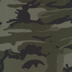 Bomuld/lycra økotex m/army-print, army/grå-grøn/sort-20