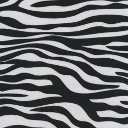 Bomuld/lycra økotex m/dyreprint, zebra sort/hvid-20
