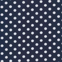 Bomuld/lycra økotex m/prikker, mørkeblå/hvid-20