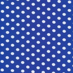 Bomuld/lycra økotex m/prikker, klar blå/hvid-20
