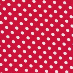 Bomuld/lycra økotex med prikker, rød/hvid-20