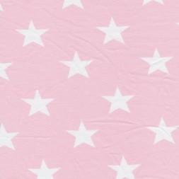 Bomuld/lycra økotex m/stjerner babylyserød/hvid-20