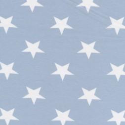 Bomuld/lycra økotex m/stjerner babylyseblå/hvid-20