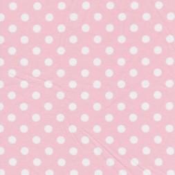 Bomuld/lycra økotex m/prikker, babylyserød/hvid-20