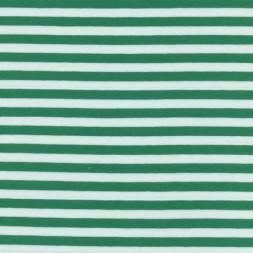 Bomuld/lycra økotex stribet grøn/hvid-20