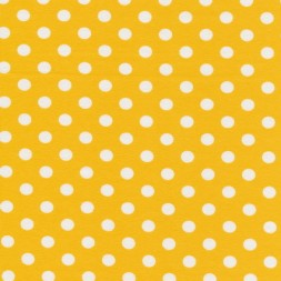 Bomuld/lycra økotex m/prikker, gul/hvid-20
