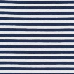 Bomuld/lycra økotex stribet mørkeblå/hvid-20