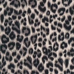 Bomuld/lycra økotex m/dyreprint, leopard beige-sort-20