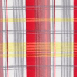 Rest Merceriseret bomulds-jersey, m/striber/tern hvid/rød, 100 cm.-20