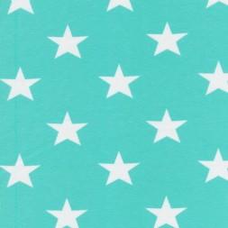 Bomuld/lycra økotex m/stjerner mint/hvid-20