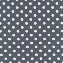Bomuld/lycra økotex m/prikker, lysegrå/hvid-20