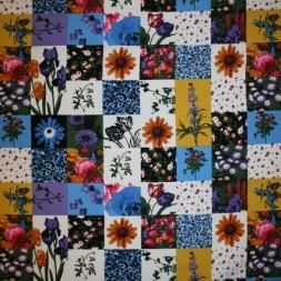Bomuld/lycra økotex m/digitalt tryk, m/firkanter/blomster-20