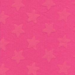 Interlock i 100% bomuld m/stjerner, pink/pink-20