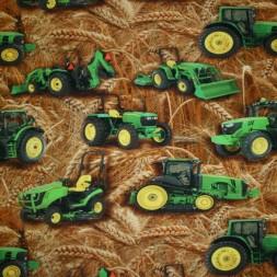 Bomuld/lycra økotex m/digitalt tryk, med traktor-korn-20