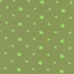 Bomuld/elasthan økotex m/stjerner, lys oliven/lime-20