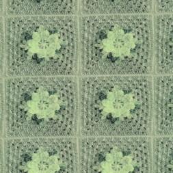 Bomuld/lycra økotex m/digitalt tryk, hæklet lap m/blomst, lysegrå-20