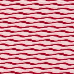 Hvid/rød jersey med striber i bølge-20