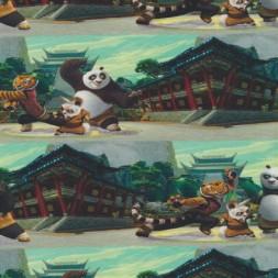 Bomuld/lycra økotex m/digitalt tryk, m/Kung Fu Panda-20