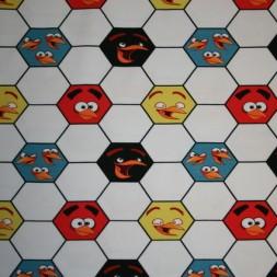 Bomuld/lycra økotex m/digitalt tryk,Angry Birds m/fodbold-20