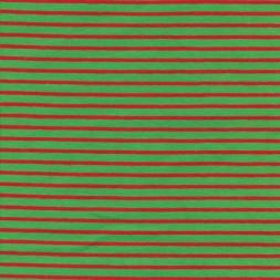 Bomuld/elasthan økotex m/striber grøn/rød-20