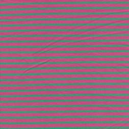 Bomuld/elasthan økotex m/striber pink/grøn-20