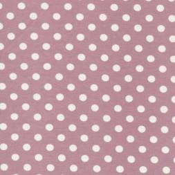 Bomuld/lycra økotex m/prikker, gl.rosa/hvid-20