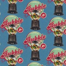 Bomuld/lycra økotex m/digitalt tryk, m/Bubble Gum automat-20