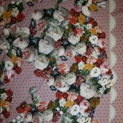 Jersey i digital print gammelrosa med bort