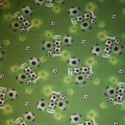 Bomuld/lycra økotex m/digitalt tryk grøn med fodbold Gool-20