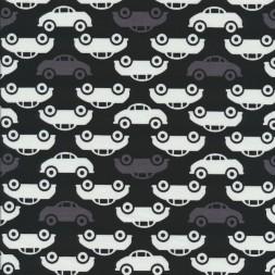 Bomuldsjersey økotex med biler i sort, grå og hvid-20