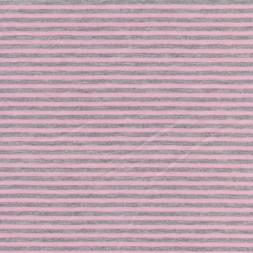 Coated jersey stribet i lyserød og lysegrå-20