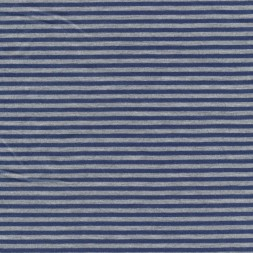 Coated jersey stribet i mørkeblå og lysegrå-20