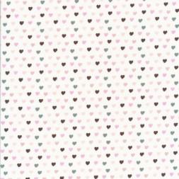 Bomuldsjersey økotex hvid med små hjerter-20