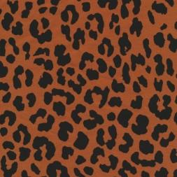 Bomuld/lycra økotex m/dyreprint, leopard brændt orange og sort-20