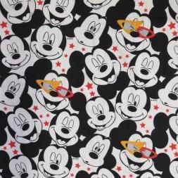Bomuld/elasthan økotex med Mickey hoveder-20