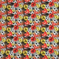 Bomuldsjersey økotex m/digitalt tryk med fodbold/bolde-20