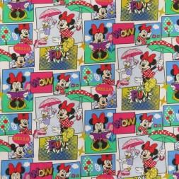 Bomuldsjersey økotex m/digitalt tryk tegneserie med Minnie-20